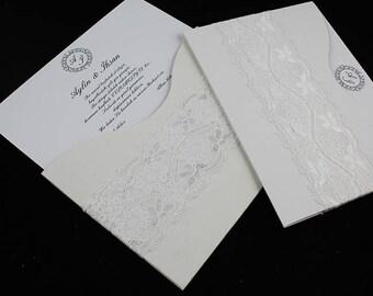 Lace Wedding Invite, Lace Wedding Invitation, Lace Invite, Vintage Invitation, Lace Invitation