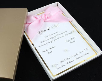 Boxed invitations
