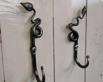 Hand forged Leaf hooks