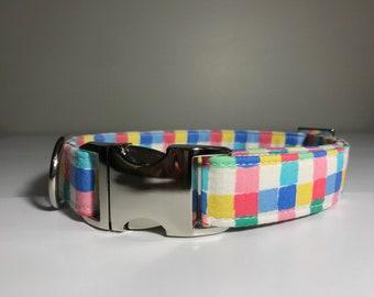 Pink Checkered Collar
