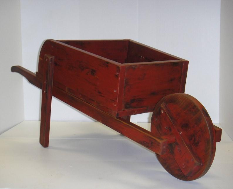 Rustic Decorative Wheelbarrow Planter Etsy