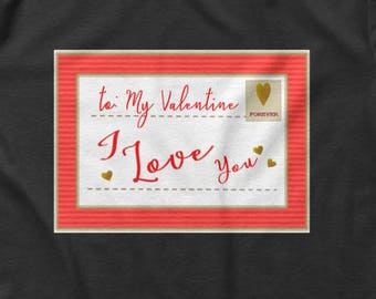 To My Valentine I Love you Postcard Women's Crop Tee