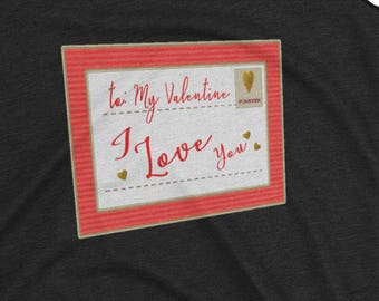 To My Valentine Be your own I Love you Valentine's Day 3D  Postcard Women's Racerback Tank