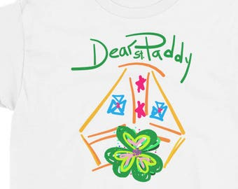 Dear Paddy St. Patrick's Day Shamrock Kid Teen Short Sleeve T-Shirt
