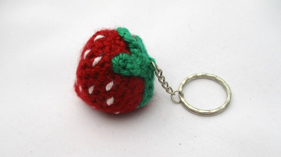 How To Make A Sweet Crocheted Strawberry Keychain - DIY Crafts ... | 319x570