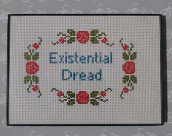 Existential Dread Cross Stitch Needlepoint