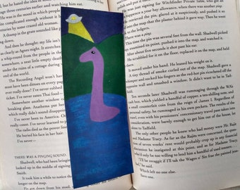 Bookmark - Nessie the Loch Ness Monster - Small Art Print on Glossy Cardstock