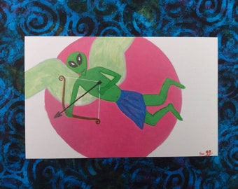 Valentine's Print - Alien Cupid