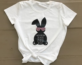Hip Hop the hippie to the Hip Hop Easter bunny TSHIRT