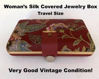 Fine Silky Fabric Delicate Book Design Jewelry Organizer Home /& Living -Unique Gift Jewelry Holder Travel Jewelry Storage Case Boxes