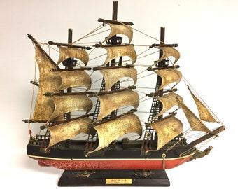 Vintage Sea Witch Clipper Ship 1846 Model, Model Sea Witch Clipper Ship,  Vintage Nautical, Office Decor, Man Cave, Vintage Sailing Ship