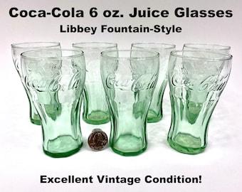 Details about  /Coca Cola Indiana Bell Soda Glasses Vintage NIB Coke Set of 8 Georgia Green