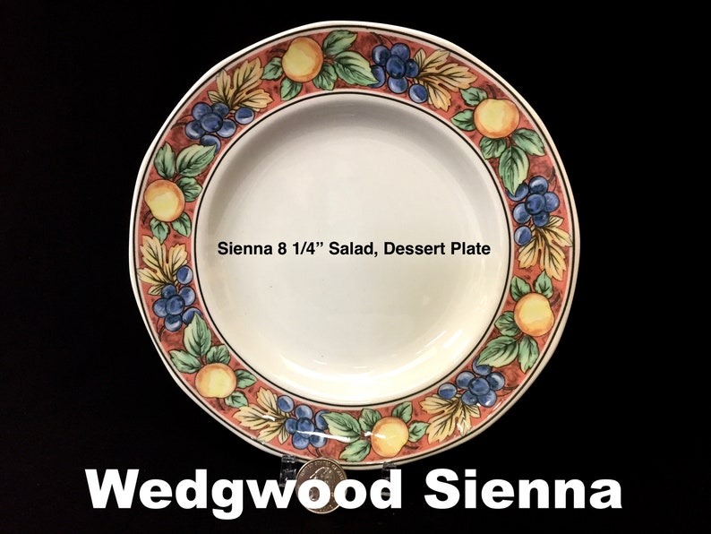 """WEDGWOOD china WATERCOLOUR Home Collection SALAD DESSERT PLATE 8-1//4/"""" set of TWO"""