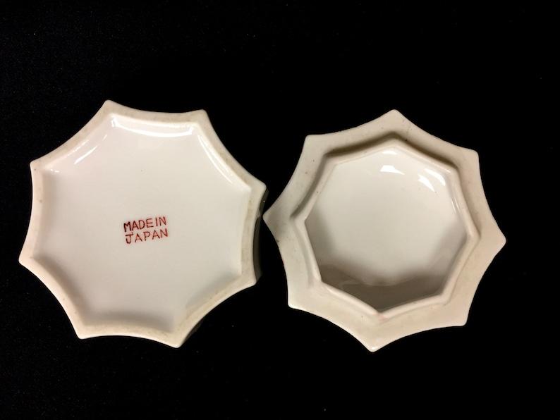 Porcelain Ring Presentation Box Japan Gold Gilt Floral 8-Sided Vintage