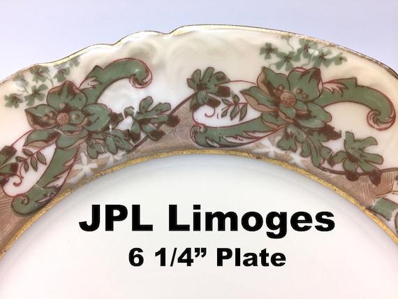 vintage 1910s j p l limoges france bread butter dessert. Black Bedroom Furniture Sets. Home Design Ideas