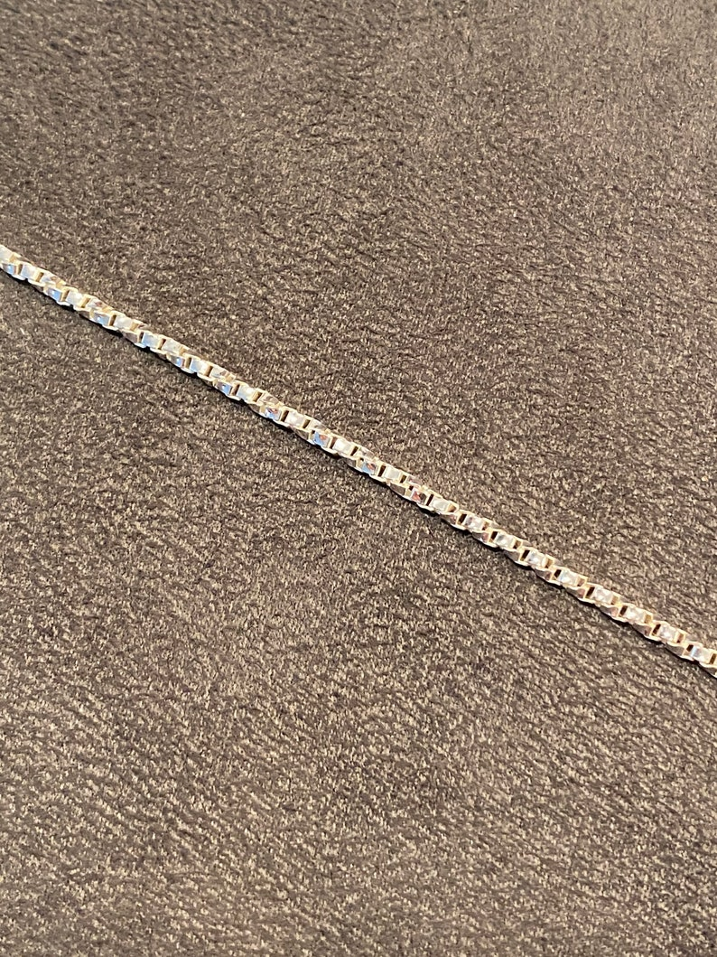 Sterling Silver 2.1mm Twisted Box Bracelet 7\u201d