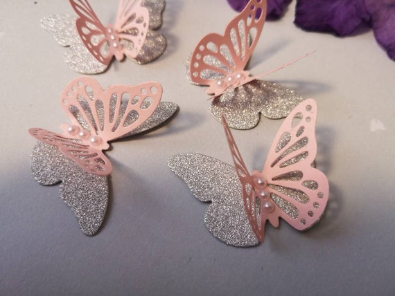 3D Paper Butterflies Table Decorations Wedding Baptist