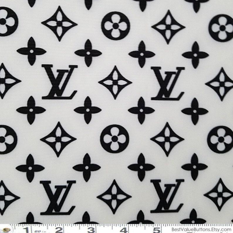 8cfa88be6e4 Spandex Fabric LV White Black Designer Inspired Fabric 4 Way