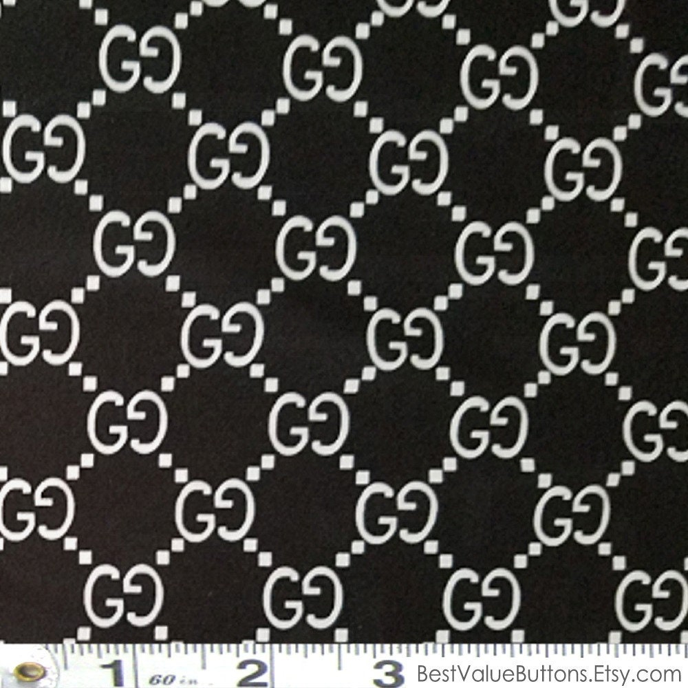 Spandex Fabric Gucci Black White Gg Designer Inspired