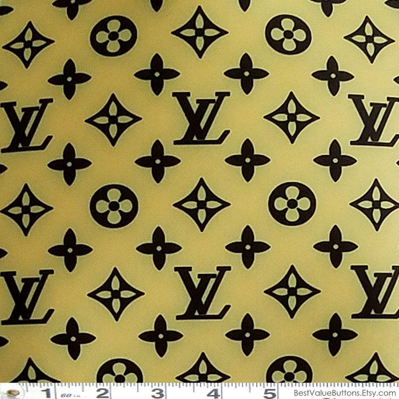 89402d8ae3e Spandex Fabric LV Yellow Brown Designer Inspired Fabric 4Way