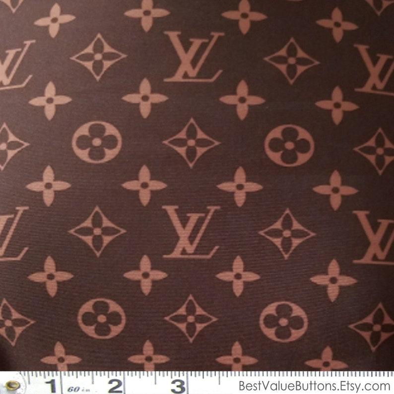 6266ea525e4 Spandex Fabric LV Brown Monogram Designer Inspired Fabric