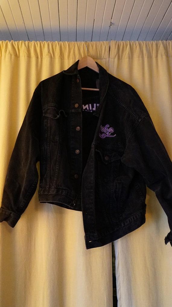 Vintage LED ZEPPELIN Denim jacket black