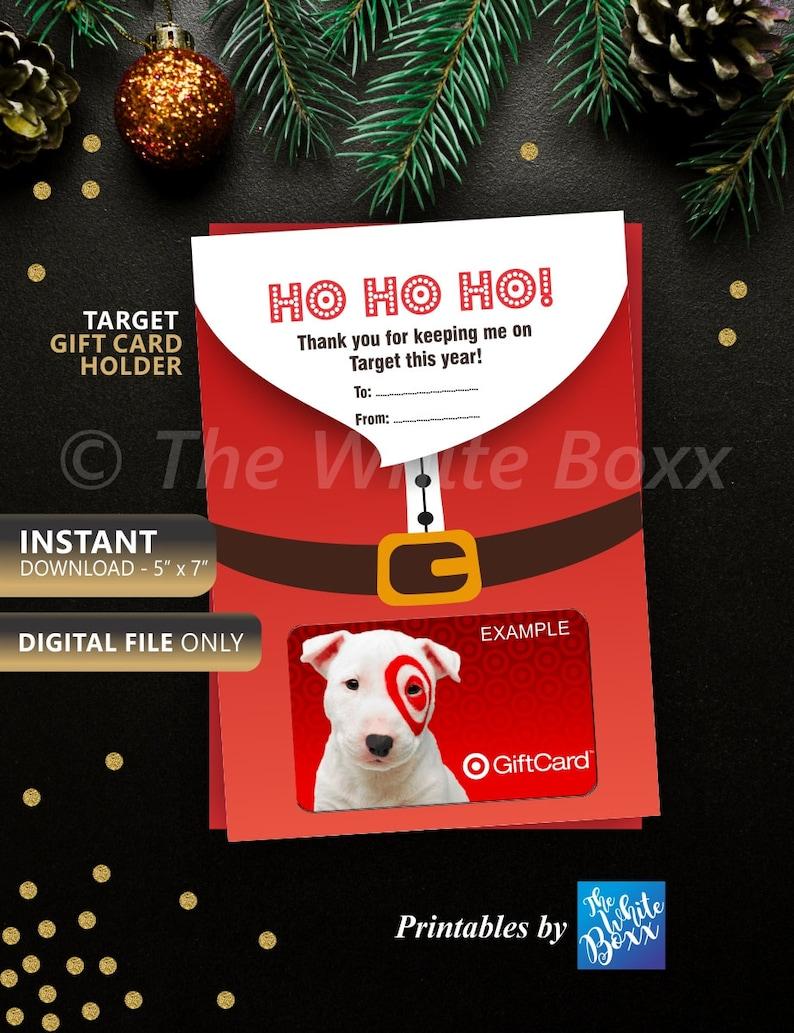 Christmas Gift Card Holder Target Gift Card Holder Teacher Etsy