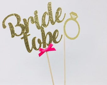 bride to be and ring centerpiece set of 2 bridal shower table decor hen party decoration ideas