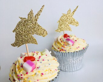12 x Unicorn cupcake topper, unicorn party decor, Birthday party decoration, Unicorn Party Decor. Bachelorette Party. Engagement Party Decor