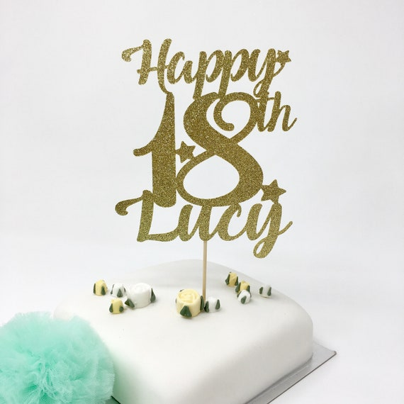 Personalised 18th Birthday Cake Topper With A Name Happy