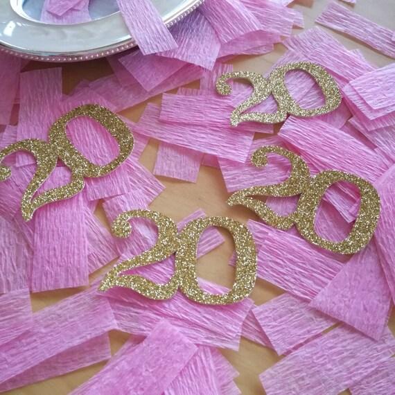 50th Age confetti with crepe paper 40th 25 pieces 1.8 number confetti 60th 80th 70th 100th birthday table confetti 30th 90th