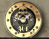 Desk Clock Ace of Spades Mantle Clock Silent