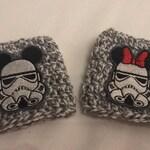 Storm Trooper Mickey and Minnie Coffee Cozy