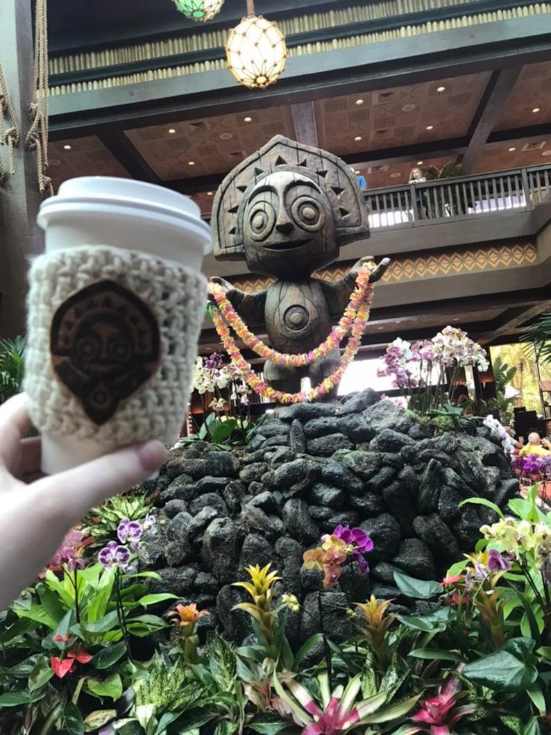 Disney Polynesian Tiki Coffee Cozy image 0