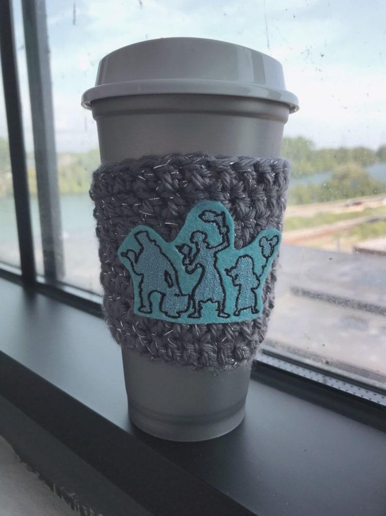 Beware Hitchhiking Ghosts Disney Coffee Cozy image 0