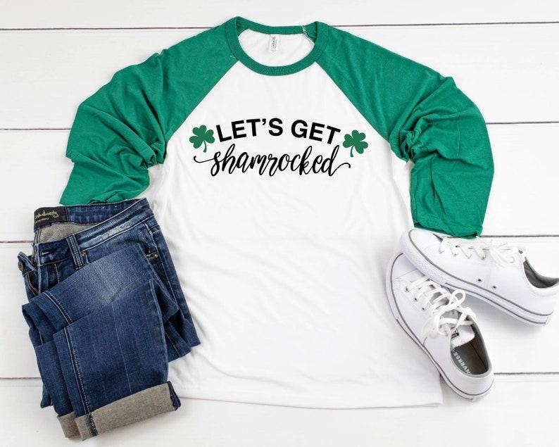 e9d5440d5 Let's Get Shamrocked Raglan Shirt St. Patrick's Day | Etsy