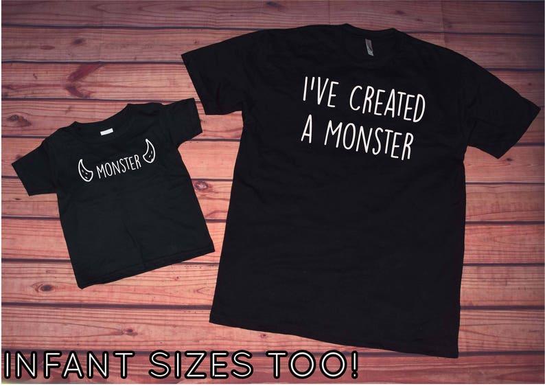 2c30ed22 I've Created a Monster Matching Shirt Set Matching   Etsy