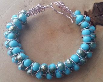 3 rows goddess bracelet