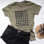 German Shepherd Shirt / American Flag shirt