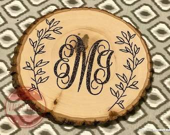 Personalized Tree Stump Slice
