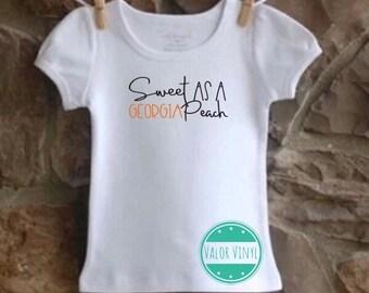 Sweet as a Georgia Peach Shirt or Onesie