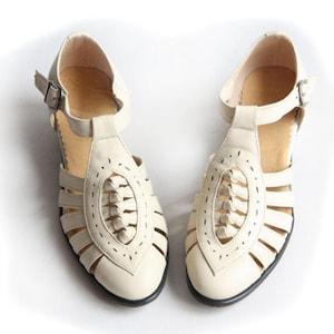 Vintage Sandals | Wedges, Espadrilles – 30s, 40s, 50s, 60s, 70s Customizable Handmade Women Leather SandalsComfortable sandalsfemale T-Strap Heel ShoesOxford Pump ShoesMary Jane ShoesHeel Sandals $89.00 AT vintagedancer.com