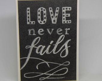 Love Never Fails - Blank Card