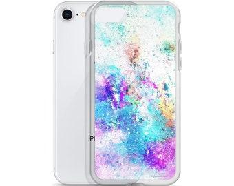 Watercolor -Paint Splatter- Texture iPhone Case