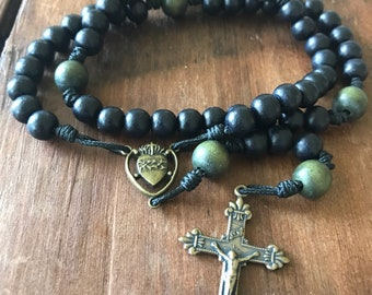 Sacred Heart of Jesus Rosary comes with Rosary Pouch