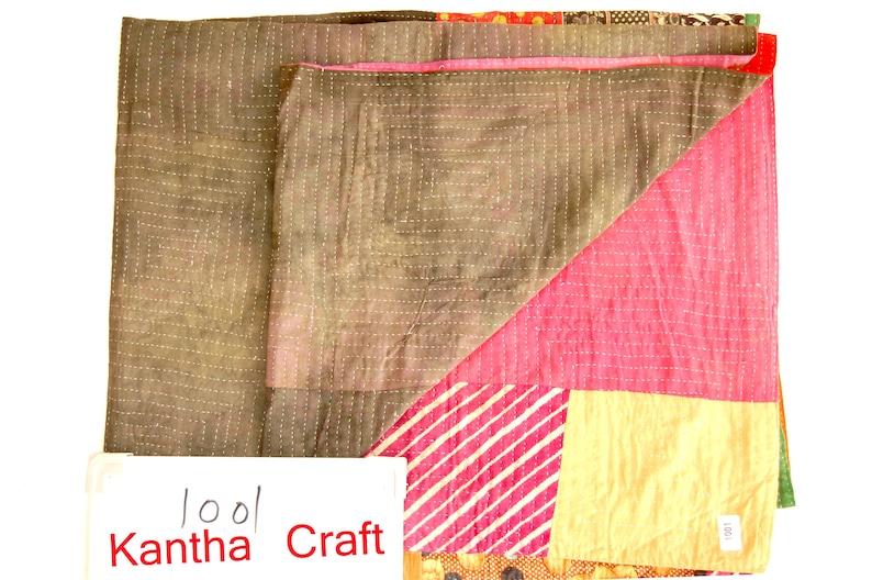 Fine Babyshower Baby Shower Baby colour blanket Kantha quilt kantha quilt handmade Quilt Vintage Kantha Quilt recycled kantha blanket