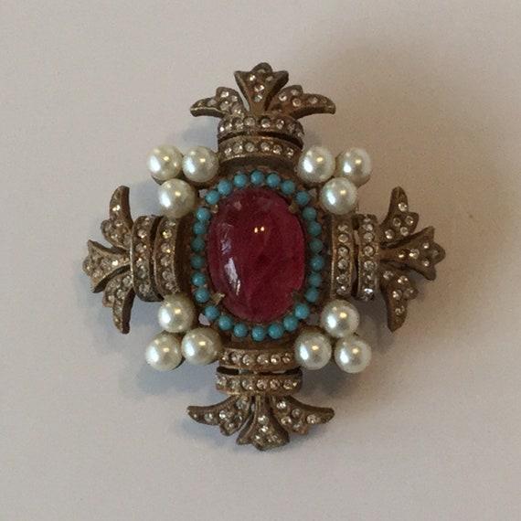 Mid-century Cadoro iconic brooch