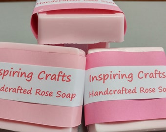 Handcrafted Rose Soap