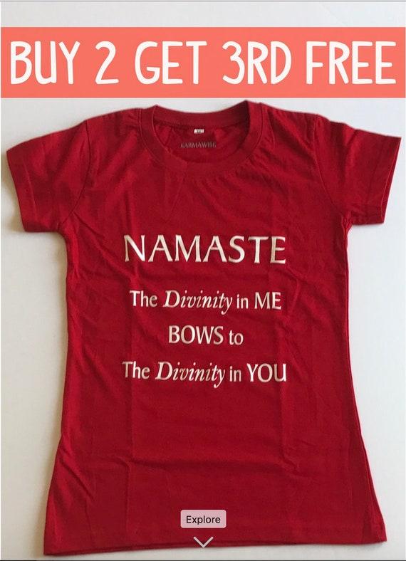 Namaste Yoga T Shirt Yoga Sayings Gift For Yoga Etsy