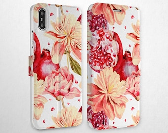 c60dc8eeaaa9 Garnet Case XS Max Wallet iPhone Flip Case iPhone 7 iPhone 10 Case 8 Plus Card  Holder iPhone Xr Cover Magnetic Clasp iPhone 6s Case